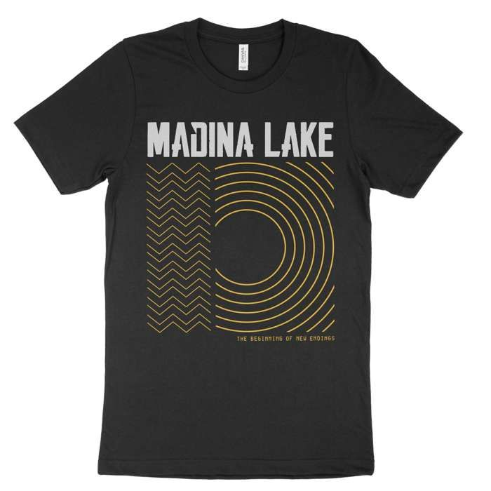 Gold - Unisex Black Tee - Madina Lake