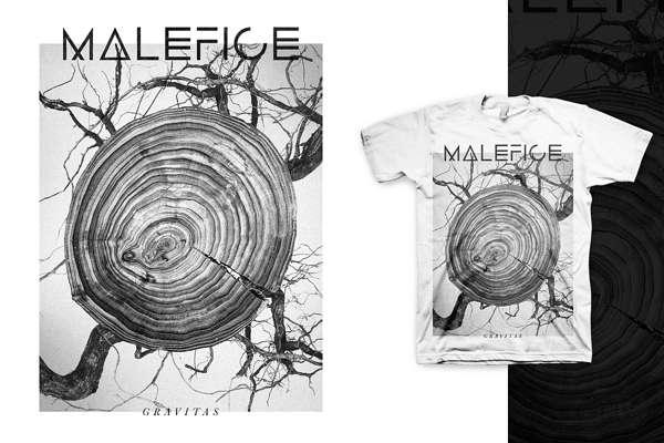 'Gravitas' Tee (White) **SALE** - Malefice