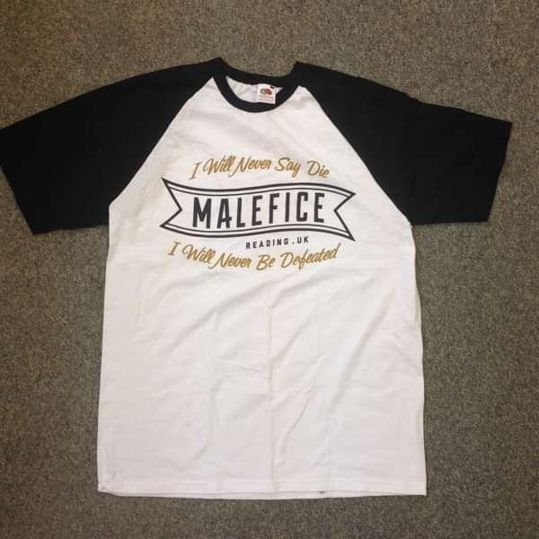 'Never Say Die' Baseball Tee **SALE** - Malefice