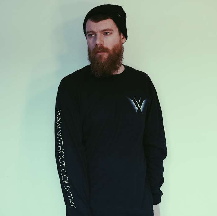 Black Long Sleeve T-Shirt - Man Without Country