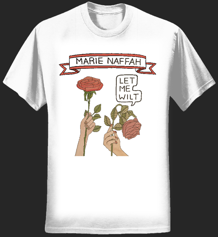 LET ME WILT LIMITED EDITION TEE BY ANGELICA HICKS (LARGE LOGO) - Marie Naffah
