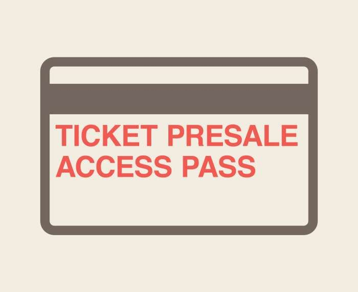 TICKET PRESALE ACCESS PASS - Marika Hackman