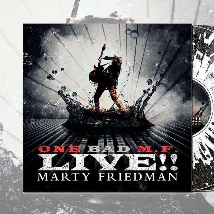 Marty Friedman - ''One Bad M.F. Live!!' Black Sparkle with Clear Splatter 2LP - Marty Friedman
