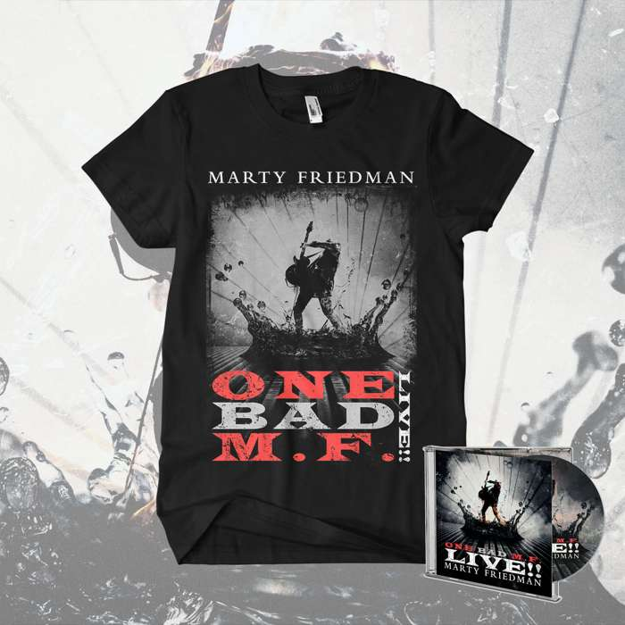 Marty Friedman - ''One Bad M.F. Live!!' CD & T-Shirt Bundle - Marty Friedman