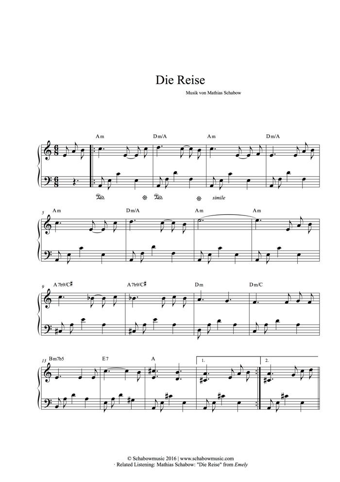 Die Reise - Mathias Schabow | Piano