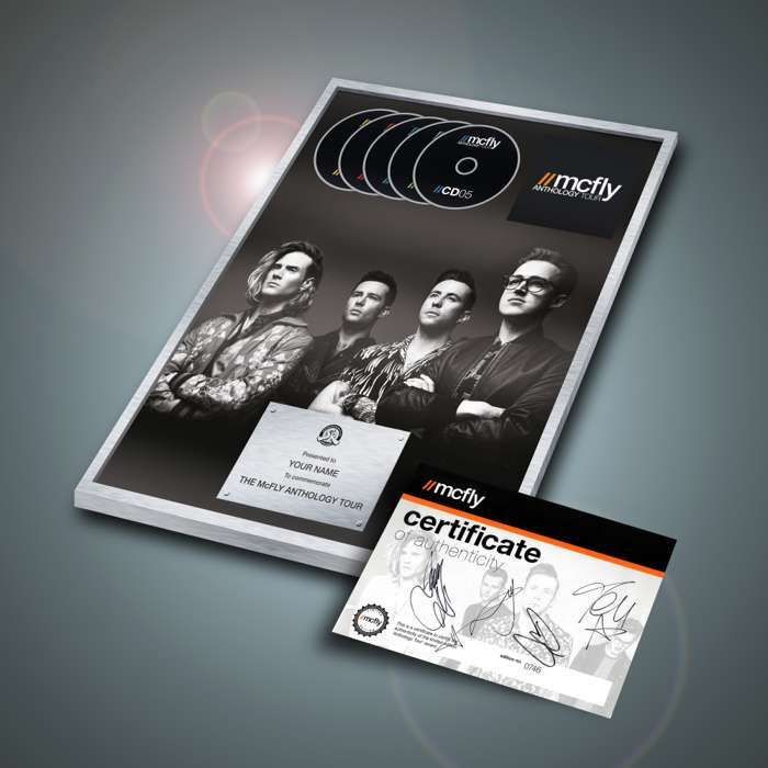 Anthology Tour Commemorative Disc (Limited Edition) - with signed certificate - McFly