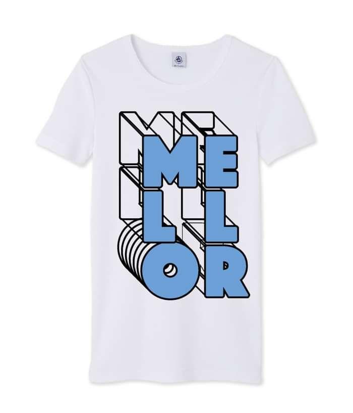 Mellor Blue Print T-Shirt - Mellor