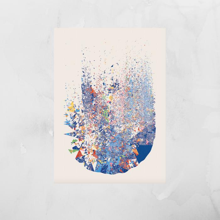 Fine art prints - 'One Hundred Billion Sparks Remixed' - Mesh
