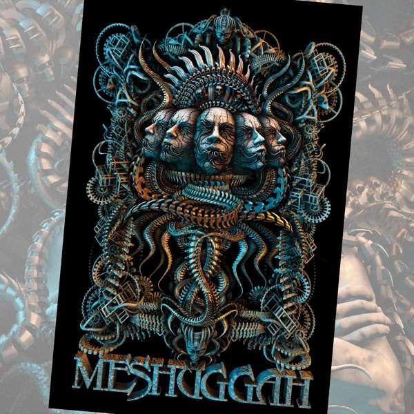 Meshuggah - '5 Faces' Textile Poster - Meshuggah