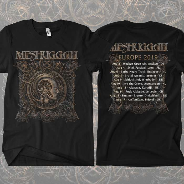 "Meshuggah - ''Europe 2019"" T-Shirt - Meshuggah"