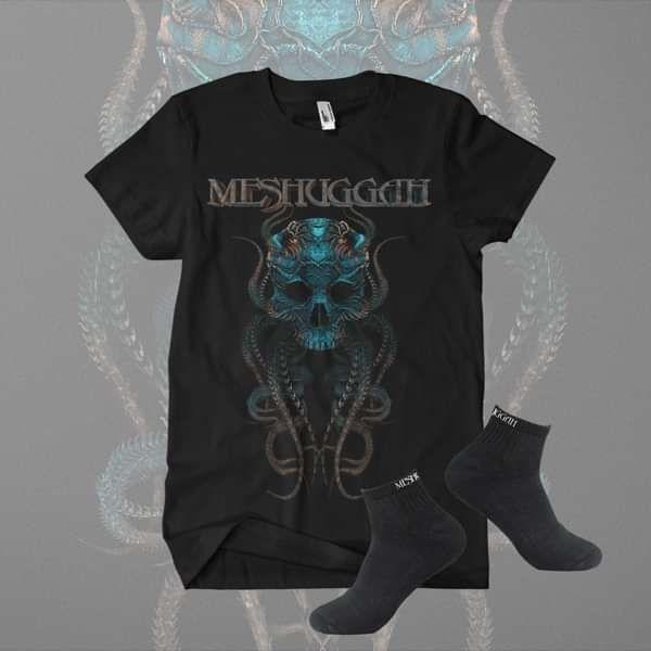 Meshuggah - 'Meskulla' Shirt & Half Price Socks Bundle - Meshuggah