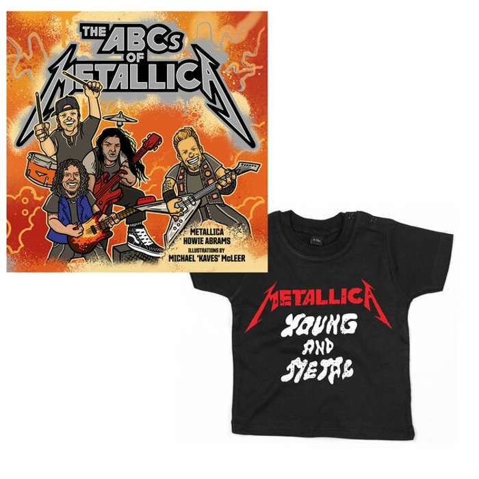 Book / Young And Metal Toddler or Youth Tee - Bundle - Metallica