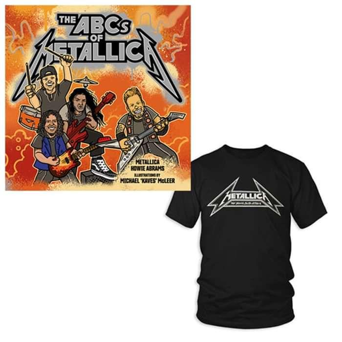Book / Young Metal Attack Adult Tee - Bundle - Metallica