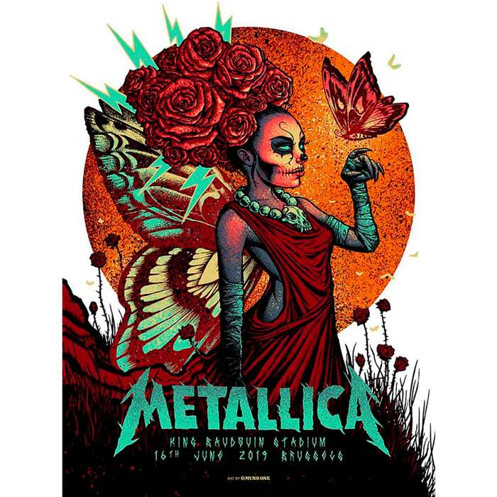Brussels June 16th – Limited Edition Numbered Screen Printed Poster - Metallica