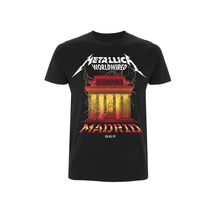 City Landmark Madrid Event Black Tee - Metallica
