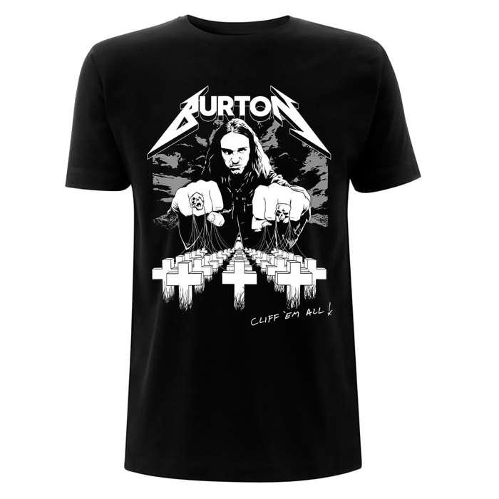 Cliff Burton – Cliff Em All - Black Tee - Metallica