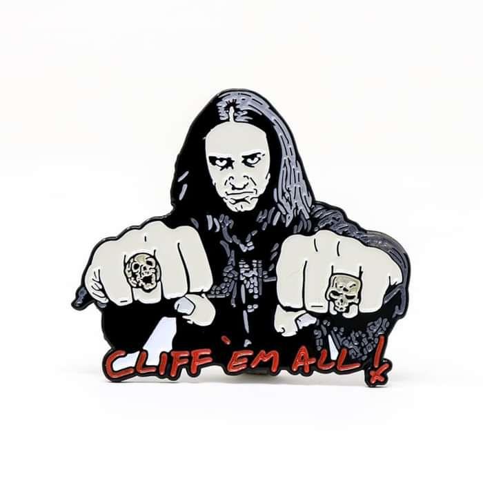 Cliff Burton - Cliff Em All - Rockin Pins Enamel Badge - Metallica