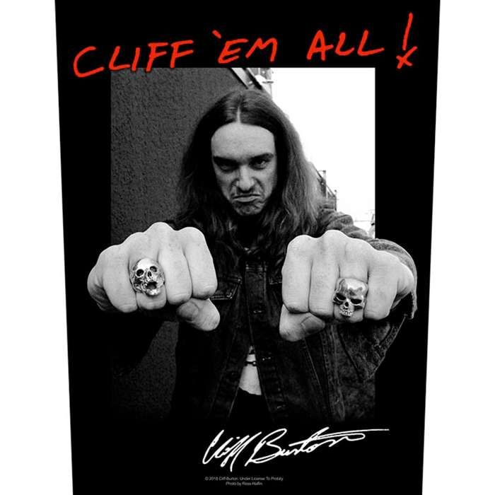 Cliff Burton – Fists – Back Patch - Metallica