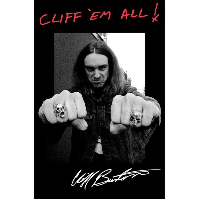 Cliff Burton – Fists – Textile Poster Flag - Metallica