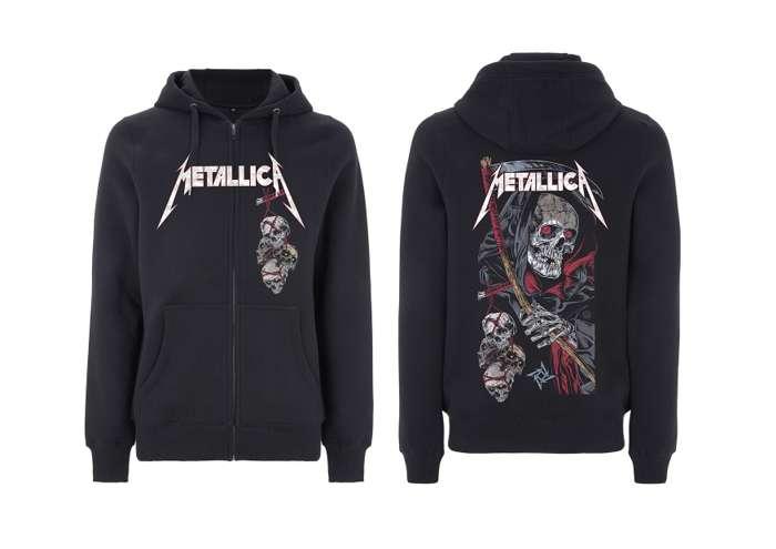 Death Reaper - Black Zip Hood - Metallica