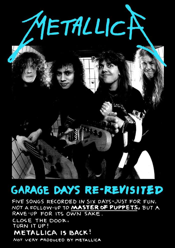 Garage Days – A2 Print - Metallica