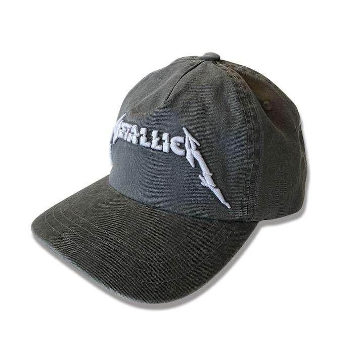 Glitch Logo Washed Black Dad Hat - Metallica