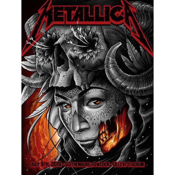 Gothenburg July 9th – Limited Edition Numbered Screen Printed Poster - Metallica