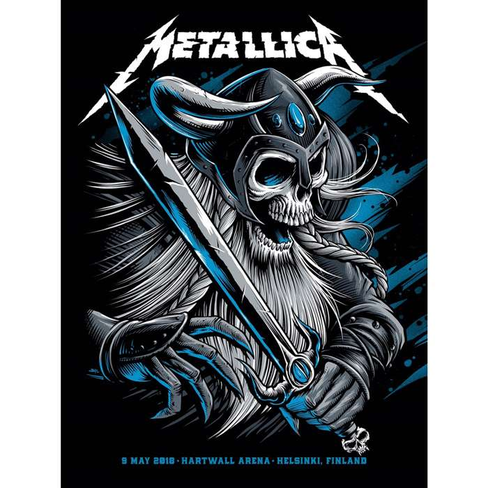 Helsinki May 9th – Limited Edition Numbered Screen Printed Event Poster - Metallica