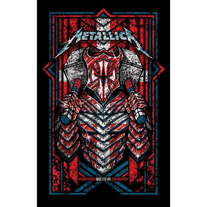 Herning March 27th – Limited Edition Numbered Screen Printed Event Poster - Metallica