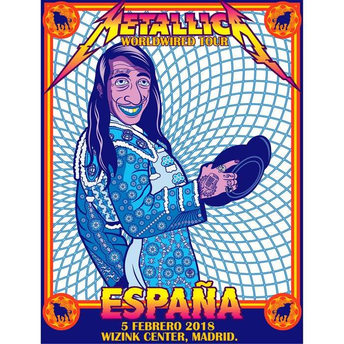 Madrid Feb 5th – Limited Edition Numbered Screen Printed Event Poster - Metallica