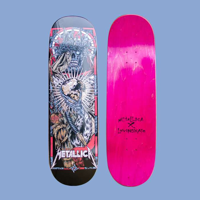 Metallica x Lovenskate - Conquest - Skateboard - Metallica