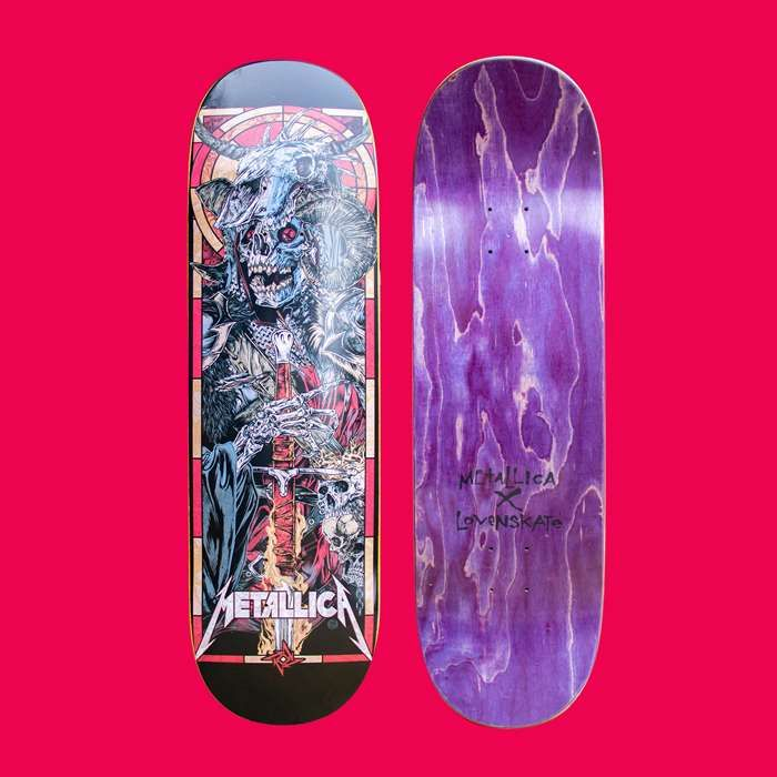 Metallica x Lovenskate - War - Skateboard - Metallica