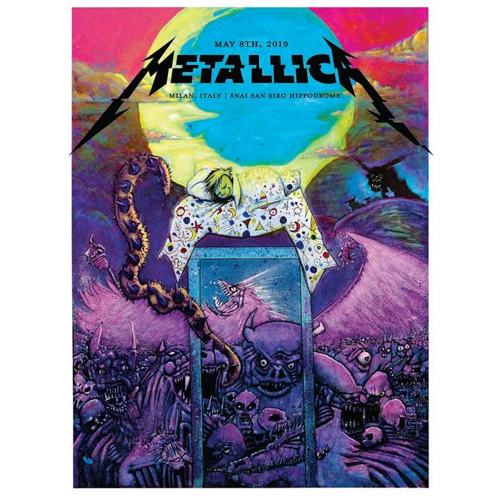 Milan May 8th – Limited Edition Numbered Screen Printed Event Poster - Metallica