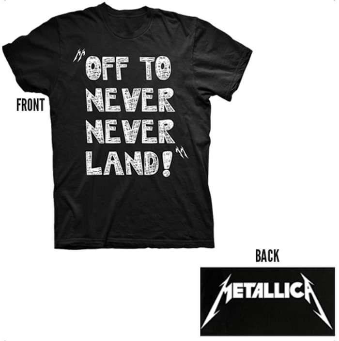 Never Never Land - Black Tee - Metallica