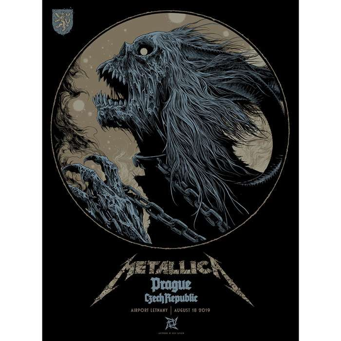 Prague August 18th – Limited Edition Numbered Screen Printed Poster - Metallica