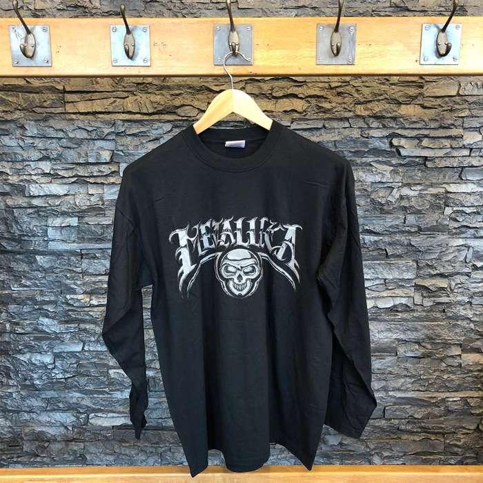 Silver Skull - Black Long sleeve Tee - Metallica