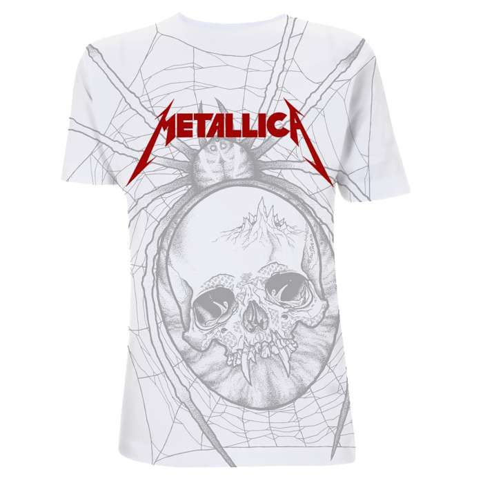 Spider - All Over White Tee - Metallica