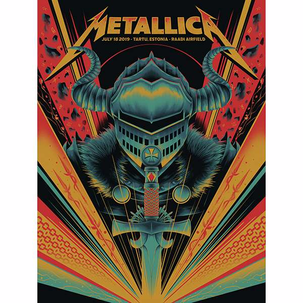 Tartu July 18th – Limited Edition Numbered Screen Printed Poster - Metallica