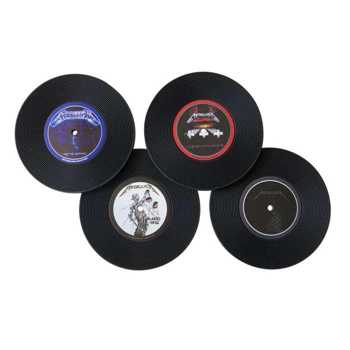 Vinyl Replica – Silicone Coaster Set - Metallica