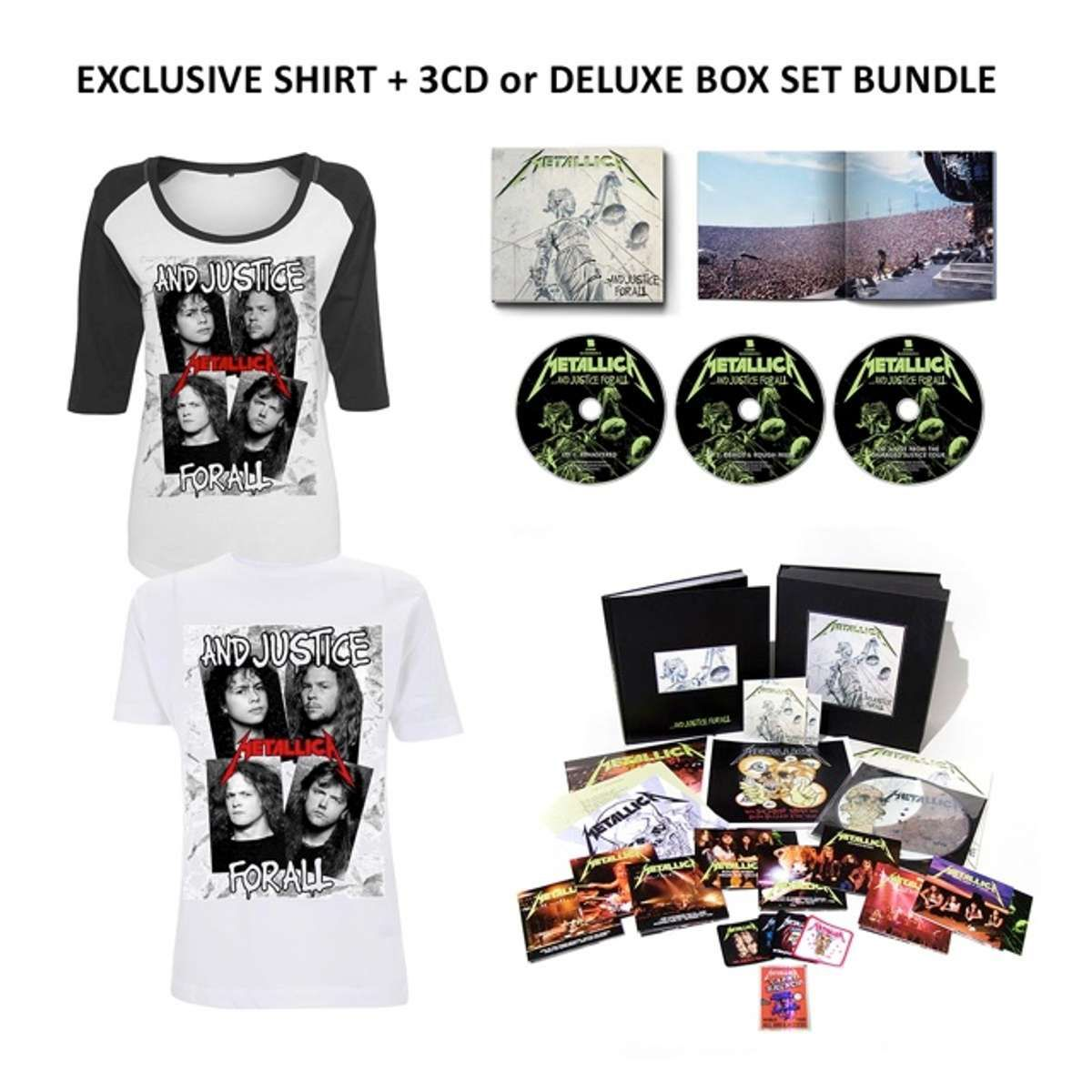 6a5fd238 …And Justice For All (Re-Mastered) Boxset or 3CD + T-shirt Bundle -  Metallica