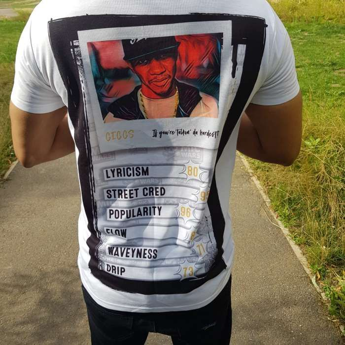 MIC WARS FITTED 'GIGGS' T SHIRT - Mic Wars