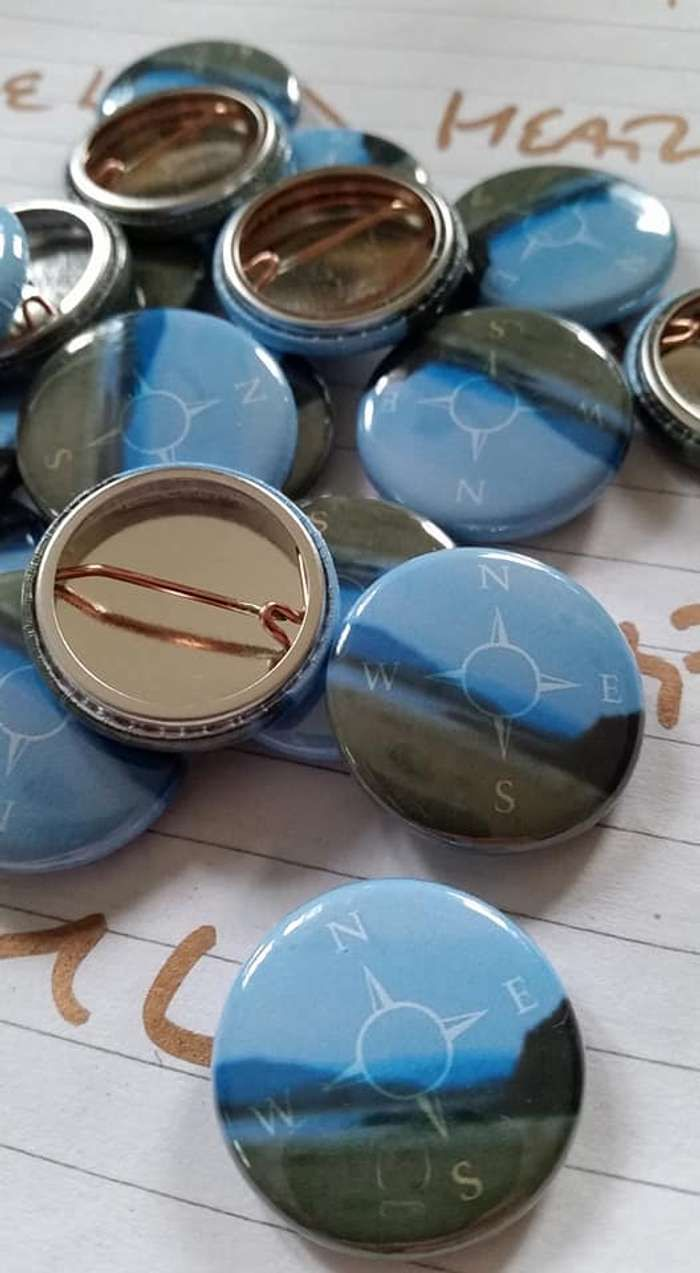 In So Small A Compass Badge - Free postage! - Mike Turnbull
