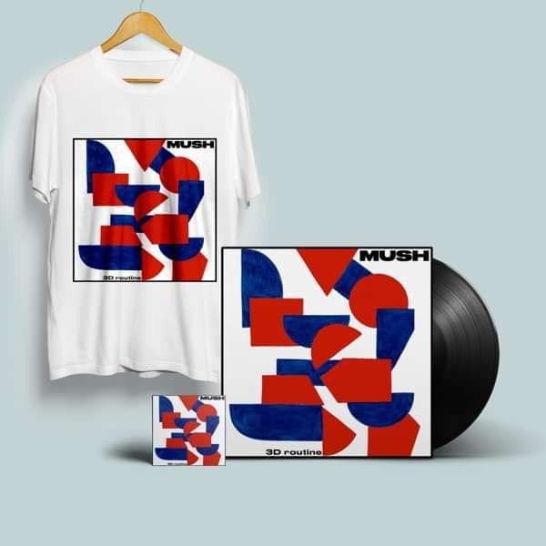 3D Routine - CD, standard black LP, download and T Shirt - MUSH