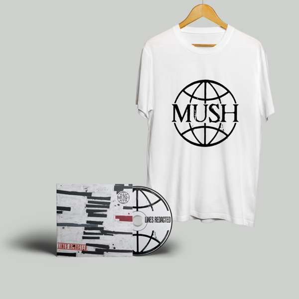 Mush - Lines Redacted - CD plus Mush logo T shirt - US - MUSH