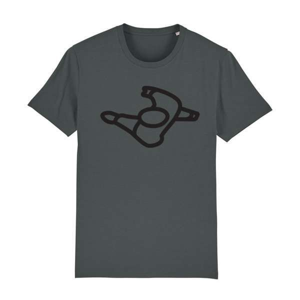 Mute Walking Man Logo Grey T-Shirt - Mute
