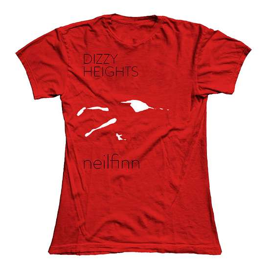Dizzy Heights European Tour T-Shirt - Red - Neil Finn (products)