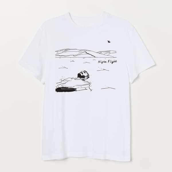Night Flight - T-Shirt (White) - Night Flight Merchandise