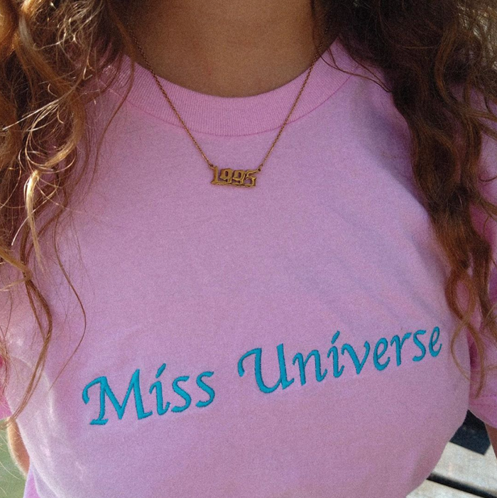 Pink & Blue Miss Universe T-Shirt - Nilufer Yanya