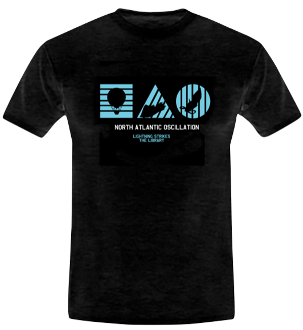 Lightning Strikes The Library (Tshirt) - North Atlantic Oscillation