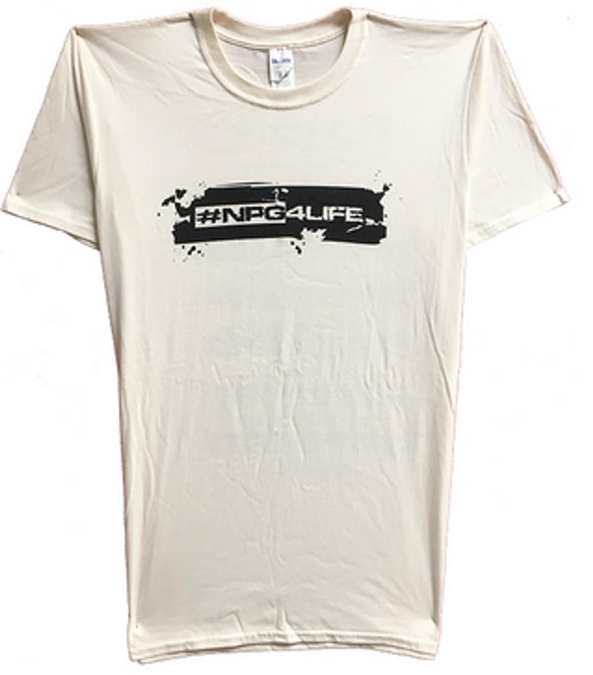 Natural NPG4LIFE T-Shirt w concert dates on back - New Power Generation